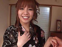 Blowjob, Brunette, Creampie, Masturbation, Japanese