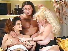 Big Boobs, Group Sex, Hairy, MILF, Stockings