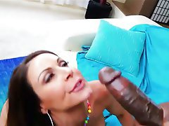 Blowjob, Cumshot, Facial, Interracial, MILF