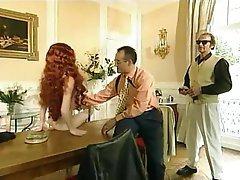 French, Group Sex, Pornstar, Redhead, Vintage