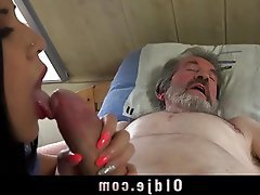Blowjob, Brunette, Cumshot, Old and Young