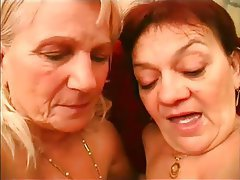 Granny, Hairy, Lesbian, Mature, Kissing