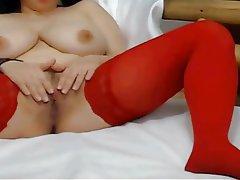 Big Boobs, Masturbation, Saggy Tits, Webcam
