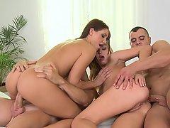 Teen, Foursome, Foursome, Party, Orgy