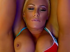 Babe, Big Boobs, Blonde, British