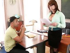 Big Tits, Blowjob, Handjob, Stockings, Teen